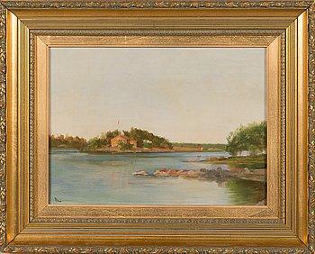 Arvid Liljelund, oil on canvas, signed.
