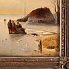 Nicolaas johannes roosenboom, attributed to, oil on panel, signed.