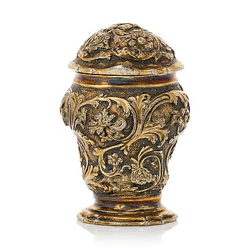 214. A Swedish Rococo silver-gilt snuff-box, mark of Johan Pettersson Berg (Norrköping 1727-1762(1768)).