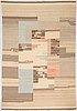 Greta skogster-lehtinen, a 1930's flat weave carpet probably aaltosen mattokutomo kiikka, finland. circa 240x163 cm.