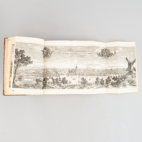 The greatest swedish topographical work, with 354 engraved plates.