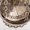 Elis kauppi, a silver and gilded silver neckalce. kupittaan kulta, turku 1965.