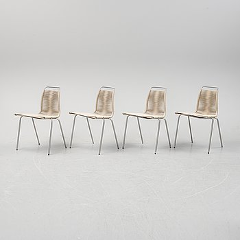 Four PK-1 chairs by Poul Kjaerholm for Carl Hansen.
