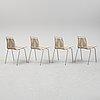 Four pk-1 chairs by poul kjaerholm for carl hansen.