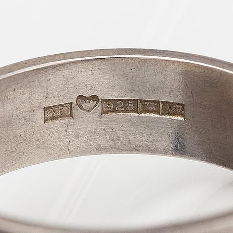 Elis kauppi, a stelring silver ring. kupittaan kulta, turku 1974.