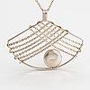 Elis kauppi, a sterling silver neckalce with a spectrolite. kupittaan kulta, turku.