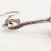 Elis kauppi, a pair of silver and rose quartz earrings. kupittaan kulta, turku 1959.