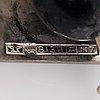 "Elis kauppi, a silver and moss agate necklace ""reindeer bell"". kupittaan kulta, turku 1966."