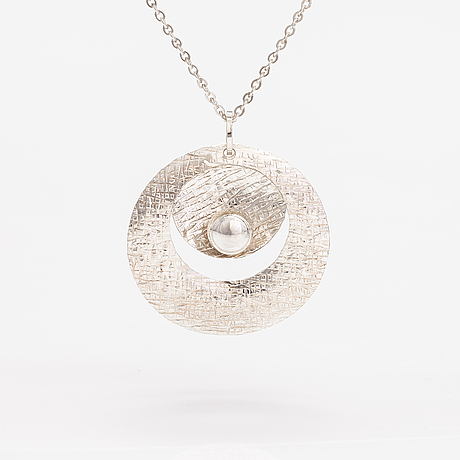 Elis kauppi, a sterling silver necklace. kupittaan kulta, turku 1973.