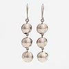 Elis kauppi, a pair of silver and chalcedony earrings. kupittaan kulta, turku.