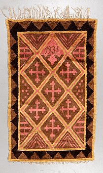A rug, knotted pile, ca 172 x 110 cm, Finland, dated 1931.