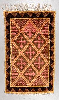 Matta, rya, ca 172 x 110 cm, Finland, daterad 1931.