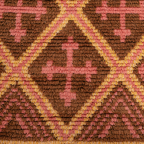Matto, ryijy, knotted pile, ca 172 x 110 cm, suomi, dated 1931.