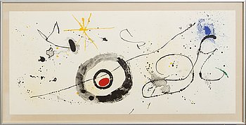 Joan Miró, lithograph in color, from Derrière le Miroir nr 139-140 1963.