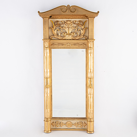 A swedish empire mirror, first half of the 19th century.