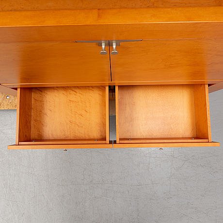 Chi wing lo, three 'oli' cherry wood cabinets, giorgetti, italy.