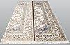 A carpet, nain part silk so called 9 laa, ca 368 x 259 cm.