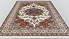A carpet, sarouk, signed, ca 350 x 247 cm.