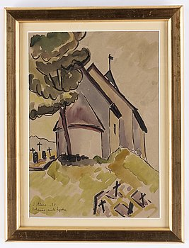 Agnes Cleve, watercolor, signed and dated -38.