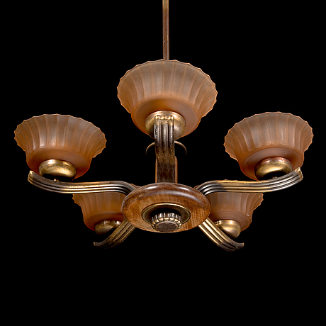 Paavo tynell, a 1930's '1260/5 chandelier  for taito.