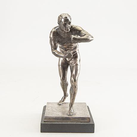 Okänd konstnär 1900-tal , skulptur, vitmetall.