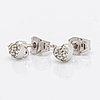 Lynggaard earrings 18k whitegold wiht brilliant-cut diamonds 0,18 ct, width heart approx 5 mm.