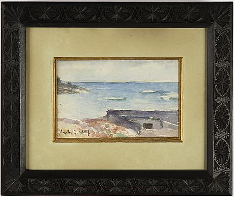 Amelie lundahl, watercolour, signed.