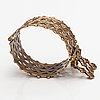"A bronze bracelet ""volga finns bracelet"". kalevala koru, helsinki."