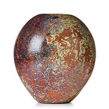115. Hans Hedberg, a faience vase, Biot France.