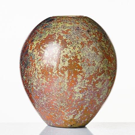 Hans hedberg, a faience vase, biot france.