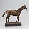 Maud von rosen, sculpture. signed. dated 1942. foundry mark. bronze. total height 38 cm.