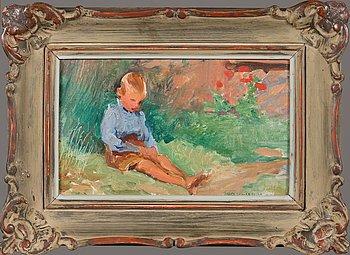 Venny Soldan-Brofeldt, oil on panel, signed and dated 1927.