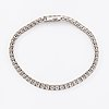 A 14k white gold tennis bracelet with diamonds ca. 6.00 ct in total according to certificate.