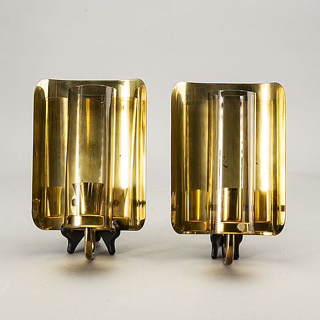 Hans-agne jakobsson, a pair of wall lamps.