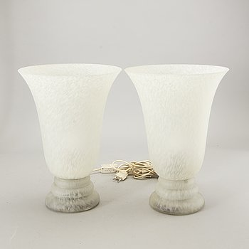 Table lamps a pair of CVV Vianne France late 20th century.