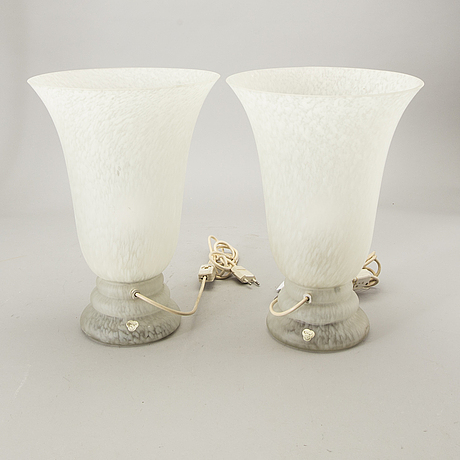 Table lamps a pair of cvv ​​vianne france late 20th century.