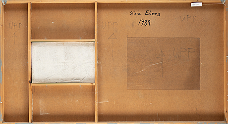 Stina ebers, relief, mixed media on panel, signed and dated 1989 verso.