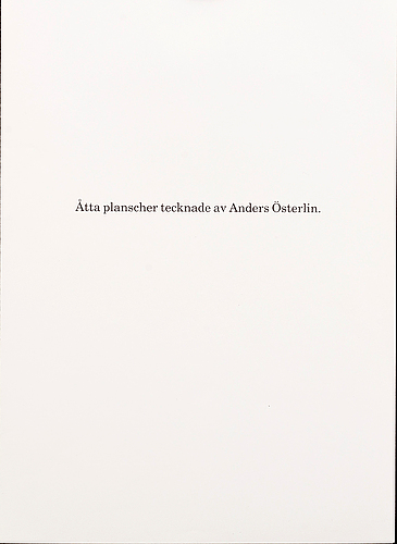 Anders österlin, a portfolio with 8 signed posters.