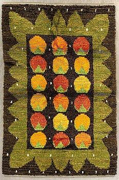 A Swedish long pile rug, ca 196 x 139 cm.