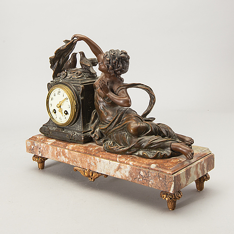 A table clock around 1900.