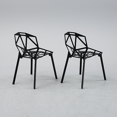 A pair of 'chair one' by konstantin grcic, magis, italy, 21st century.