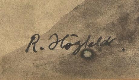 Robert högfeldt, akvarell signerad.