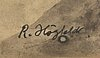 Robert högfeldt, watercolour signed.