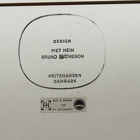 """Bruno mathsson & piet hein, board, """"superelips"""", fritz hansen, denmark."""