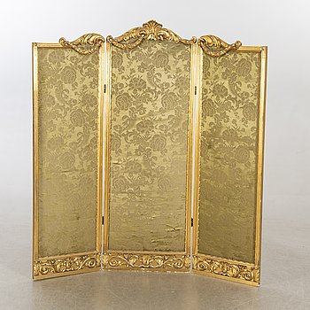 A Louis XVI-styel folding screen beginning of the 20th century.