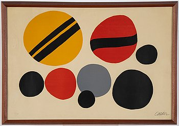 Alexander Calder, lithograph in colors, signed and numbered 7/90.