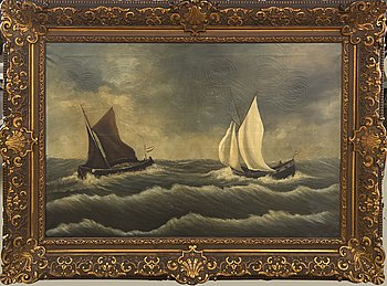 Okänd konstnär 1800/1900-tal , oil oj canvas signed.