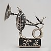 Walter bengtsson, sculpture, metal, signed wb, numbered 10/10 and dated 73.