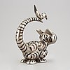 Walter bengtsson, a metal sculpture of a cat, signed wb.