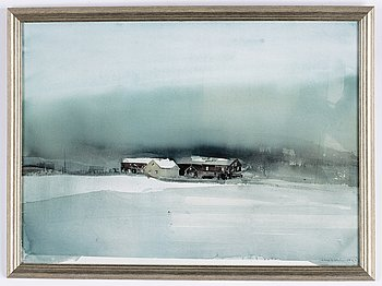 Lars Lerin, watercolour, siogned Lars Lerin and dated 1999.